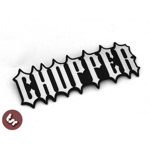 Chopper CNC Billet Tank Badge/Emblem Chop Bobber Harley BSA/XS650 1% NCC Triumph