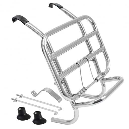 Clearance Damaged Vespa Stainless Steel Front Rack Carrier