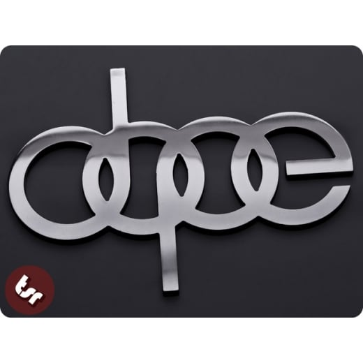 Dope Metal Badge Audi Drift Euro Dub Cnc Billet Car Emblem Quattro