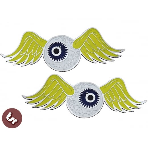 Flying Eyeball Billet Tank Badge/Emblem Fits Harley Davidson Chop Chopper Bobber