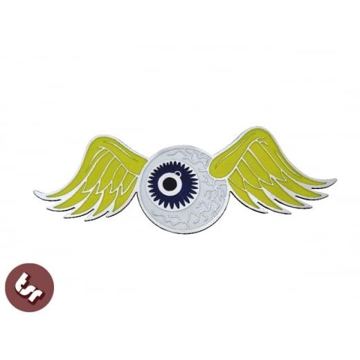 Flying Eyeball HotRod Billet Badge/Emblem Legshield/Panel fits vespa/lambretta