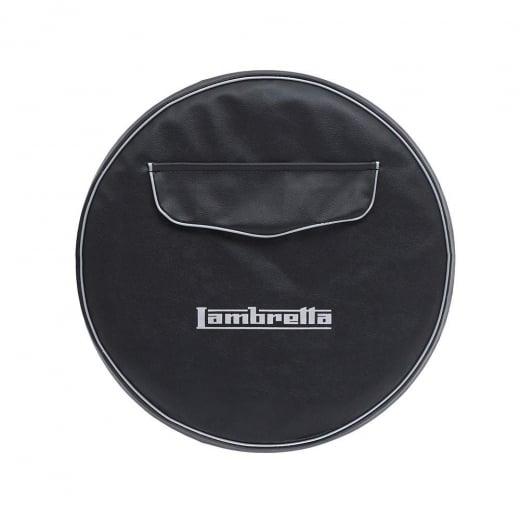 "LAMBRETTA 10"" Spare Wheel Cover Black With Front Pocket"