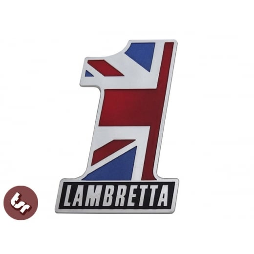 LAMBRETTA Billet CNC Legshield/Side Panel/Frame Badge NO 1 Number ONE!