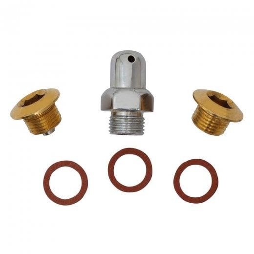 LAMBRETTA Chaincase Cover Nut Kit with Brass Plugs GP/LI/TV/SX