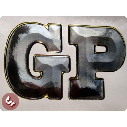 LAMBRETTA Custom Sticker - Legshield 3D 'GP' Lettering