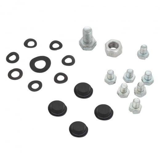 LAMBRETTA Flywheel Cover Fixing Kit Rubber Grommets+Steel Bolts