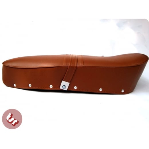 LAMBRETTA Genuine Brown Leather Top Quality Bench Seat