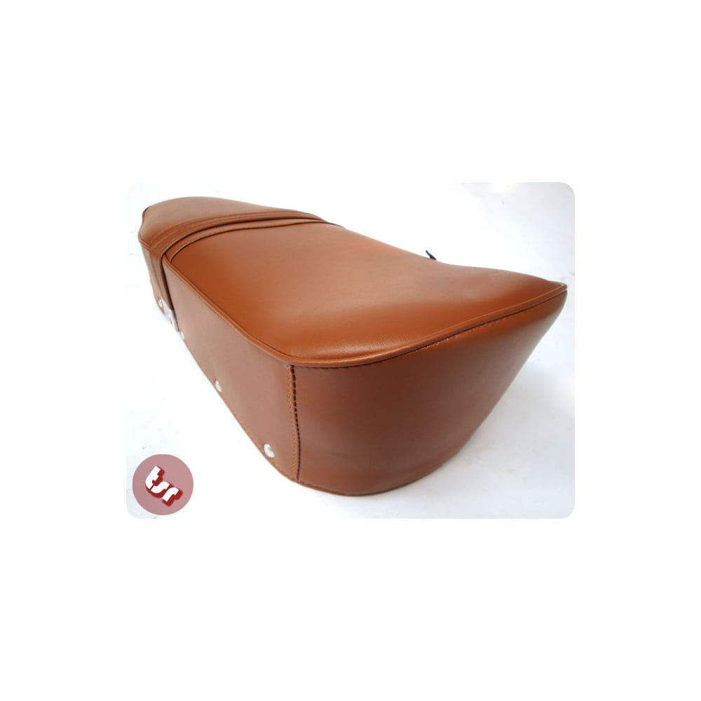 Fine Tsr Lambretta Genuine Brown Leather Top Quality Bench Seat Ncnpc Chair Design For Home Ncnpcorg