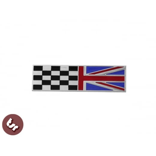 LAMBRETTA GP Billet CNC Legshield Badge/Emblem Union Jack/Racing Flag Custom