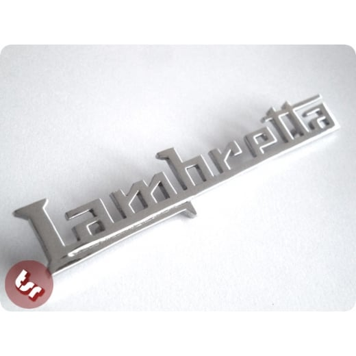 LAMBRETTA Legshield Badge 'Lambretta' GP/DL 150/200 Chrome Brass
