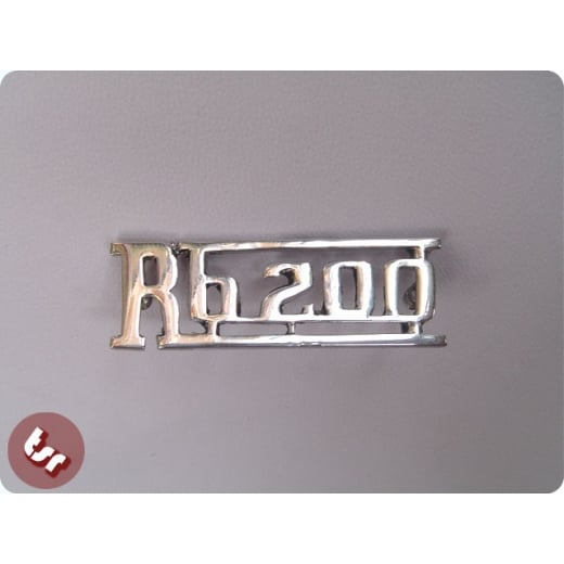 LAMBRETTA Legshield Badge RB20 RB200 Chrome RB 200