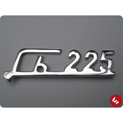 LAMBRETTA Legshield Badge RB25 rb225 (small) Chrome