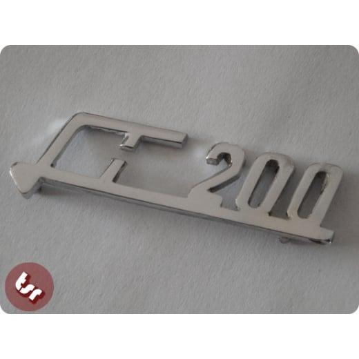 LAMBRETTA Legshield Badge Series 2 Large 'Li125' Chrome