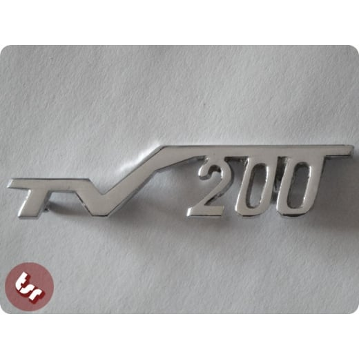 LAMBRETTA Legshield Badge 'TV200' Chrome