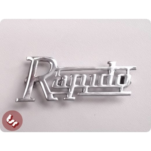 LAMBRETTA Legshield/Side Panel Badge 'Rapido' Chrome