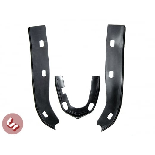 LAMBRETTA Mudguard &Horncast Rubber Seal/Trim Set Black