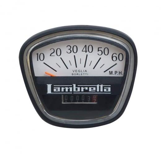 LAMBRETTA Quality Series 3 60 MPH Complete Speedo/Speedometer Unit GP Italian