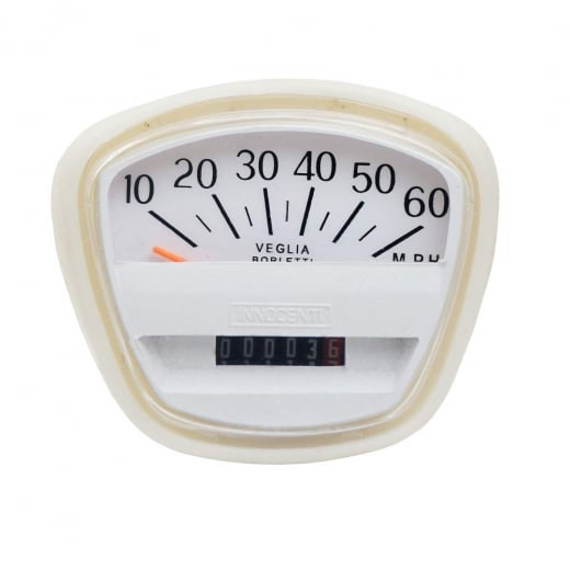 LAMBRETTA Quality Series 3 60 MPH Complete Speedo/Speedometer Unit SX Italian