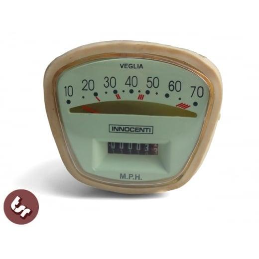 LAMBRETTA Quality Series 3 70 MPH Complete Speedo/Speedometer Unit LI Italian