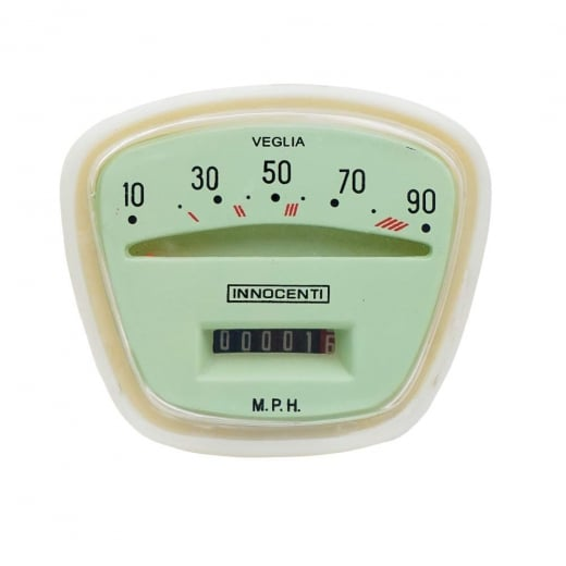 LAMBRETTA Quality Series 3 90 MPH Complete Speedo/Speedometer Unit LI Italian