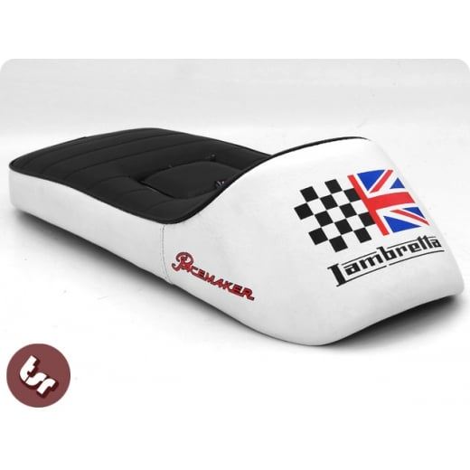 LAMBRETTA QUALITY TSR X-Race Seat Union Jack/Racing Flag GP/SX/LI/TV/LIS
