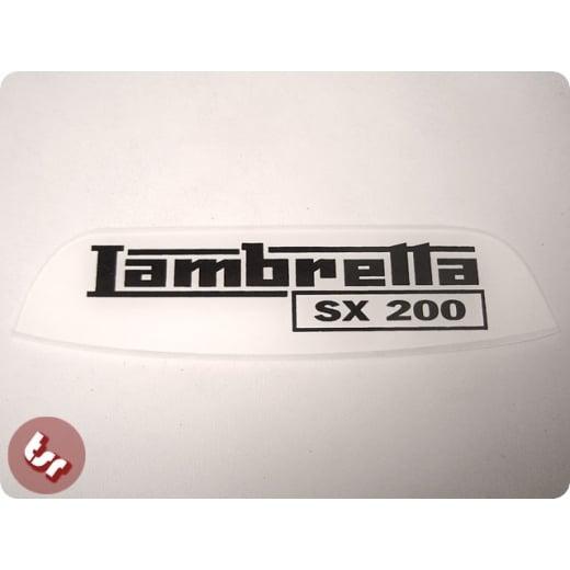 LAMBRETTA Rear Frame Plastic Badge Emblem SX200 Black/White SX 200