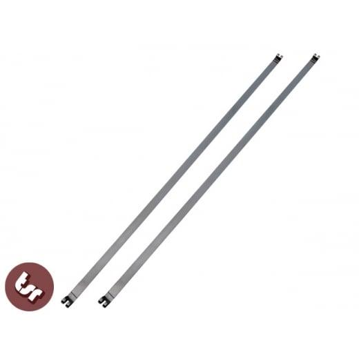 LAMBRETTA Series 2/3/GP Petrol/Fuel Tank Straps Standard Length Stainless Steel