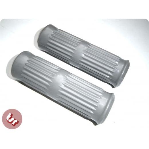 LAMBRETTA Series 3 Rubber Handlebar/Hand Grips - Grey - LI/SX/TV/GP/Special