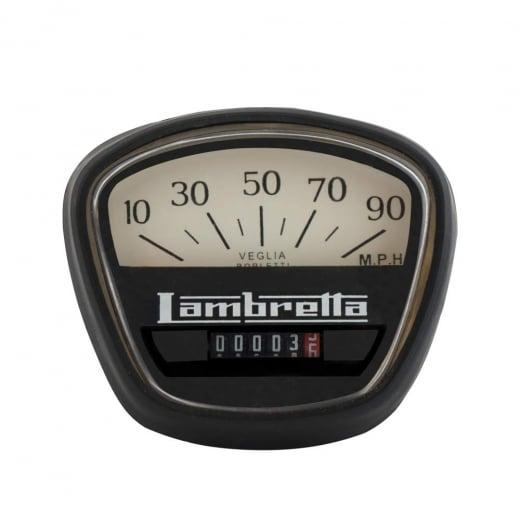 LAMBRETTA Speedo 90MPH GP Italian Thread Black/White Face