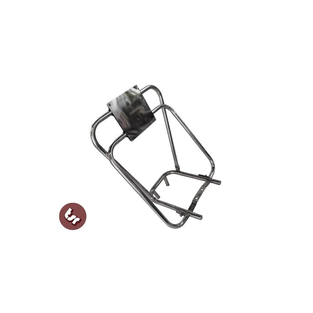 lambretta stainless steel flip flop rear rack  u0026 back rest