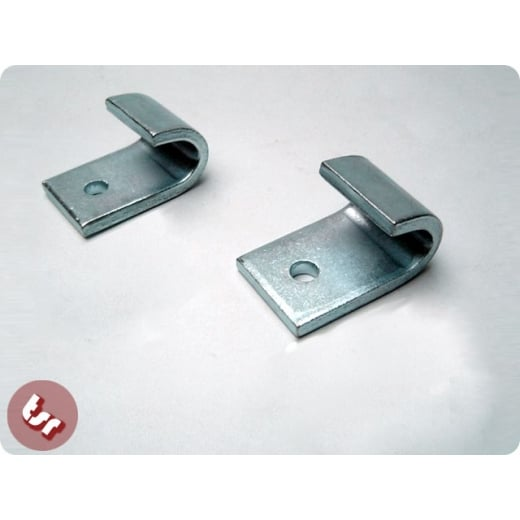 LAMBRETTA Stand Brackets Hook Set Steel (Pair) Zinc'd