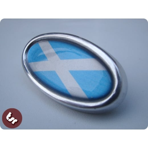 LAMBRETTA TSR Alloy Horncast Badge GP Scotland Flag
