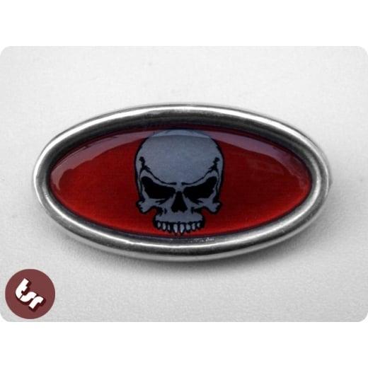 LAMBRETTA TSR Alloy Horncast Badge GP Skull/HotRod/Chop