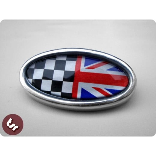 LAMBRETTA TSR Alloy Horncast Badge GP Union Jack Race