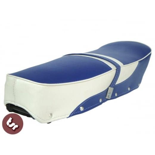 LAMBRETTA TSR Bench/Dual Seat 2 Tone Blue/White SX/GP