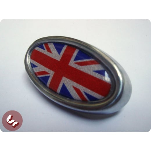 LAMBRETTA TSR Horncast Badge GP Custom Alloy Union Jack