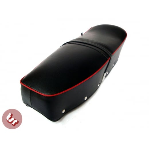 LAMBRETTA TSR QUALITY Bench Seat/Saddle Black/Red Series 2/3/GP