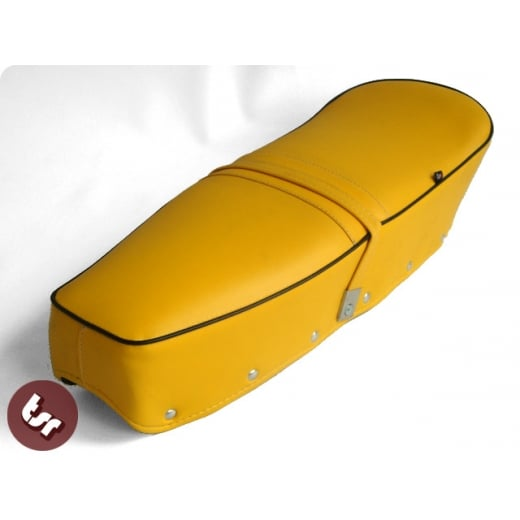 LAMBRETTA TSR Quality Dual Bench Seat Yellow/Black SX/TV/LI Series 1/2/3 150/200