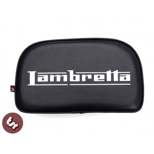 LAMBRETTA TSR Rear Rack Back Rest Pad Custom Logo Bolt-On