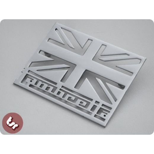 LAMBRETTA Union Jack Legshield/Side Panel Chrome Badge