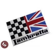 LAMBRETTA Union Jack Race Flag Billet CNC Side Panel/Legshield Badge/Emblem gp