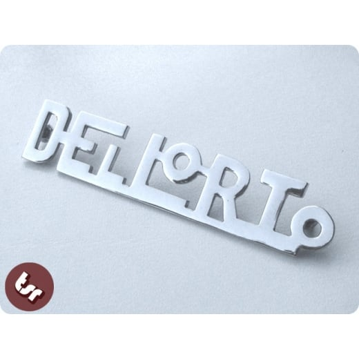 LAMBRETTA/VESPA Chrome Brass Badge DELLORTO Dell Orto