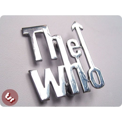 LAMBRETTA/VESPA Legshield Panel Badge Chrome The Who