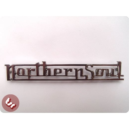 Legshield/Panel Badge 'Northern Soul' Chrome fits Vespa/Lambretta