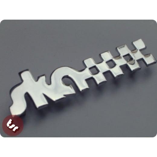 Legshield/Side Panel Badge 'Ska' Chrome fits vespa/lambretta