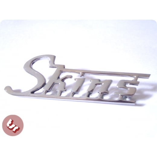 Legshield/Side Panel Badge 'Skins' Chrome fits Vespa/Lambretta scooters px gp