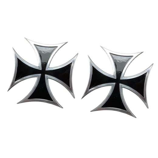 Maltese/Iron Cross - Black - Billet