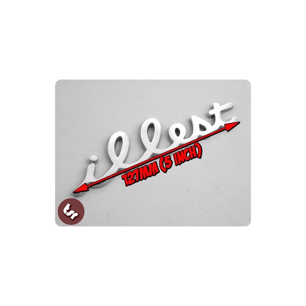 Metal Illest Badge Jdm Vw Drift Euro Dub Cnc Billet Car Emblem Vag