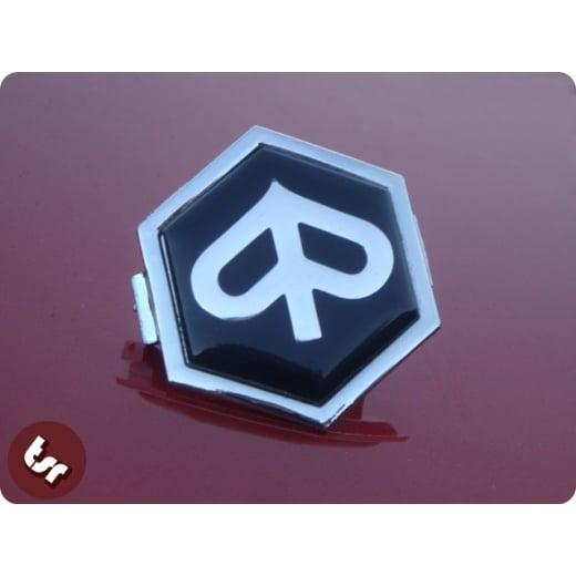 VESPA Horncast Hex Badge- Chrome Piaggio PX/T5/LML Black