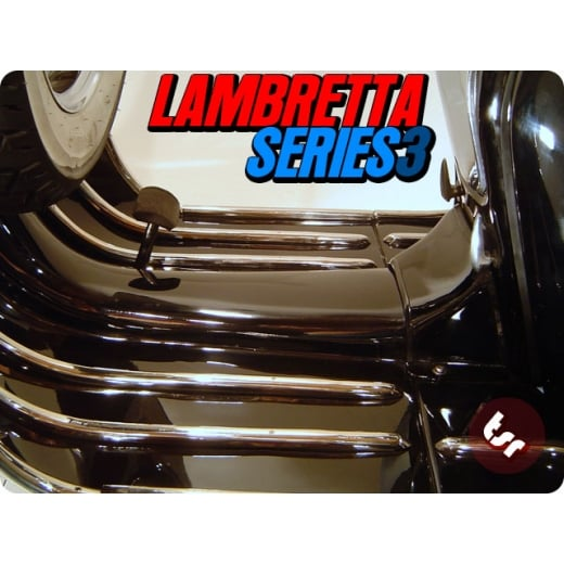 TSR LAMBRETTA Series 3 Stainless Steel Legshield/Floor Board Runner Strip Kit LI/SX